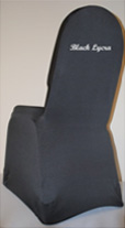 Select a black lycra chair cover