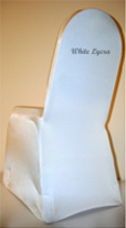 Select a white lycra chair cover